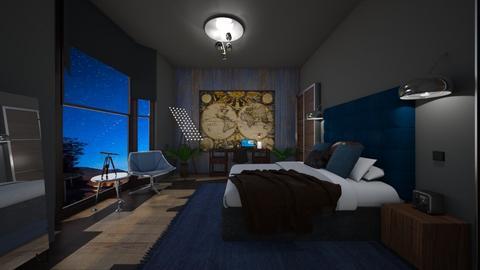 Stargazer 2 - Masculine - Bedroom - by timeandplace