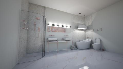 CR Rose gold bathroom - Bathroom  - by weinsteinkids
