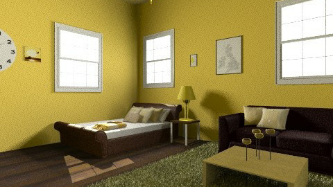 Yellow - Country - Bedroom - by 89dudes