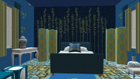BLUEEE - Eclectic - Bedroom  - by asifgoldpk
