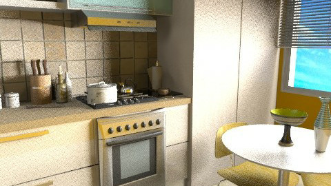 The Kitchen Table - FINAL - Retro - Kitchen  - by JenniferLewi