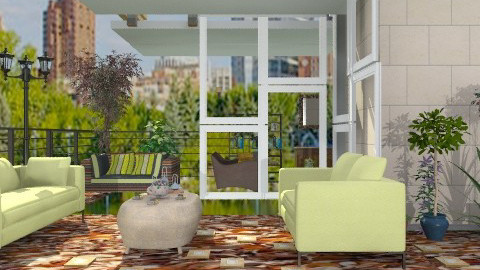 Tea on the terrace - Modern - Garden  - by milyca8