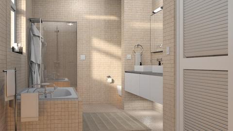 Tiled Bathroom - Bathroom  - by GraceKathryn