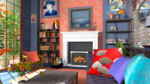 2014 full spectrum - Eclectic - Living room  - by katmills98