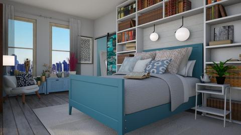 Wash Those Blues Away - Classic - Bedroom  - by paluvica