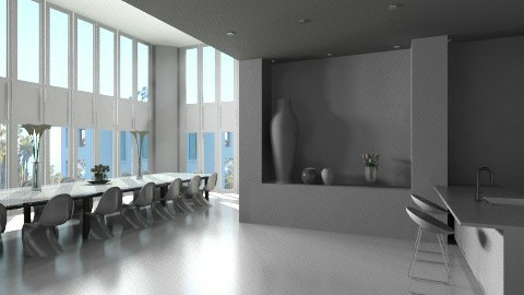 White 2 - Modern - Kitchen  - by Ivana J
