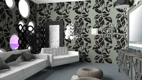 room of circles - Glamour - Living room - by Lizette Najera