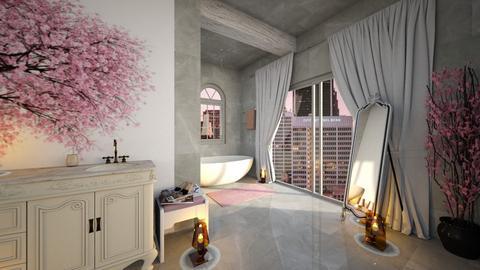 Cherry Blossom Bathroom - Bathroom  - by I designs