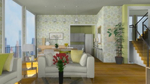 Lime Apartment - Eclectic - Living room - by cheyjordan