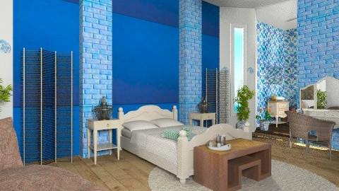 A blue hat for a blue day - Eclectic - Bedroom  - by mrschicken