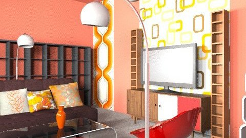 bcjdkb dk-fbvck-dgfb-k - Retro - Living room  - by kiscsitty