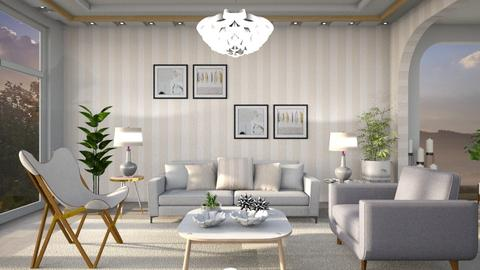 M_Grey and cream - Eclectic - Living room  - by milyca8