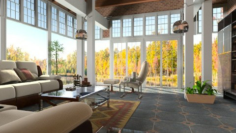 Autumn Sunlight - Modern - Living room - by Bibiche