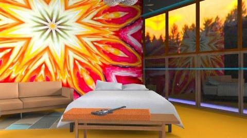 reflecting on the 70s - Retro - Bedroom  - by kadee1111