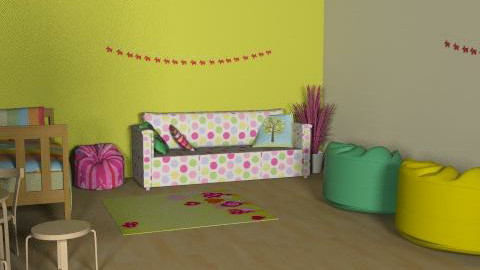 child room - Retro - Kids room  - by villanyoszlop