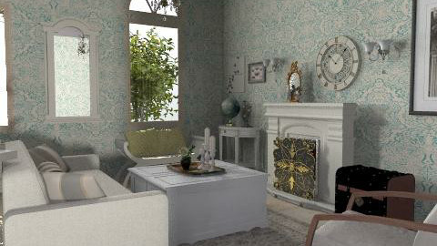 Parisian - Vintage - Living room  - by PennyDreadful