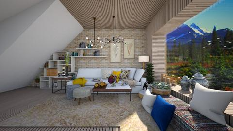 villa - Living room  - by sarasepideh
