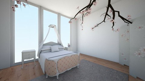 Rose quartz inspired room - Bedroom - by Cora_da_B0ss