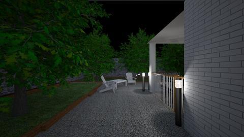 Terrace at night2 - Garden  - by lovasemoke