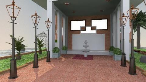 Hotel Courtyard - Rustic - Garden - by APInteriors