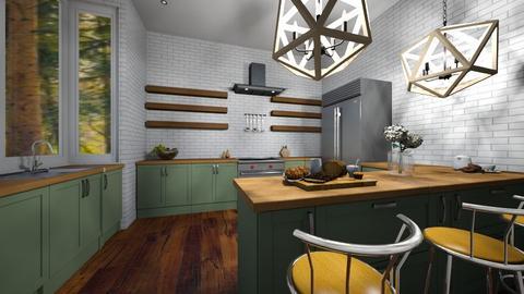 Modern Rustic - Rustic - Kitchen  - by EwaT