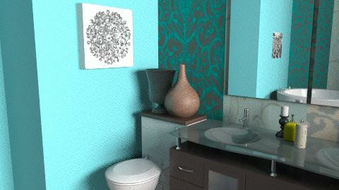 Aqua Chocolate - Modern - Bathroom  - by vanessa_designs