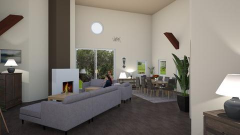 Huis 2022 bruin - Classic - Living room  - by lindameuwissen