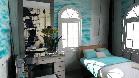 Blue Lagoon - Country - Bedroom  - by KarolinaZ