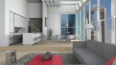 XO apartment - Modern - Living room  - by liling