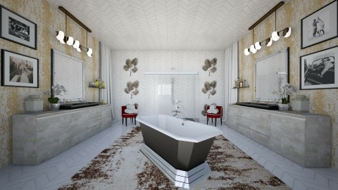 washed - Vintage - Bathroom - by Ripley86