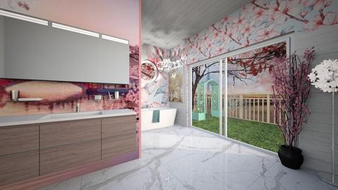 Cherry Blossom Bathroom - Bathroom  - by Feeny