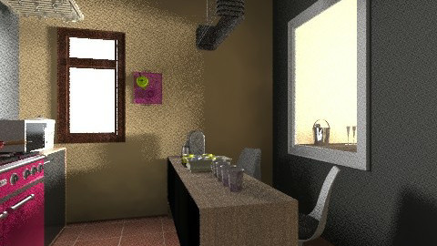 Black and Yellow - Kitchen - by wildvlvt