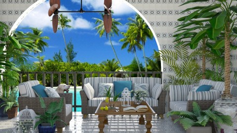 Design 189 Tropical Patio - Garden  - by Daisy320