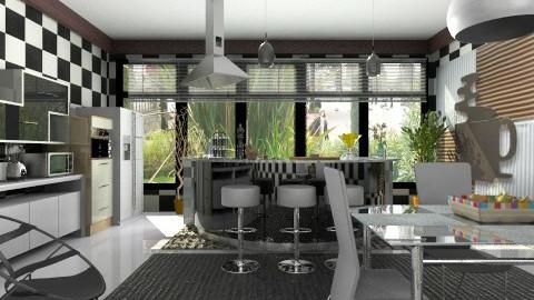 black and white kitchen 2 - Modern - by ju1974
