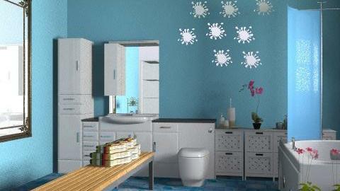 banheiro azul - Classic - Bathroom  - by mmagaton