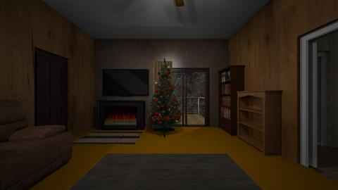 Cabin LR Night - Living room  - by WestVirginiaRebel