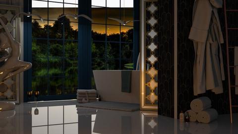 Art Deco - Bathroom  - by KittyT6