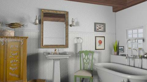 Lakeside Cottage Bathroom - Rustic - Bathroom  - by LizyD