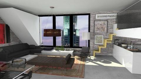 minimal loft - Minimal - Living room  - by whateffer
