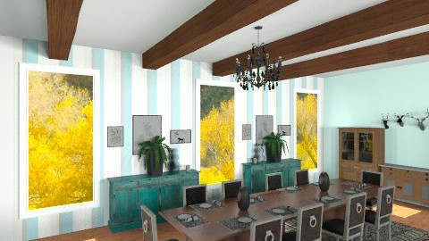 dining room 1 - Country - Dining room - by dezhero