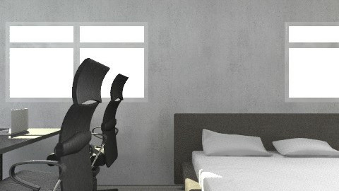 new bedroom2 - Rustic - Bedroom  - by okada