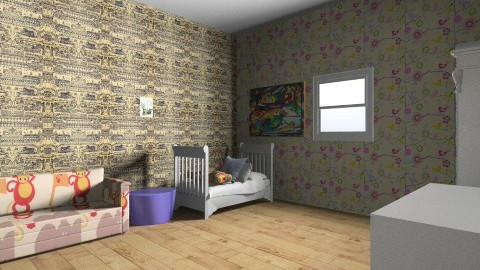 my bedroom - Vintage - Kids room  - by onia whittington