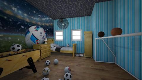 Football Superfan Bedroom - Bedroom  - by Ezra Henok