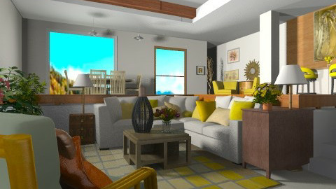 Tropical asian  - Classic - Living room  - by pachecosilv