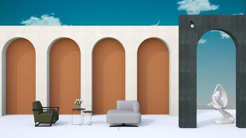 art deco living room - Living room  - by karisahsalim