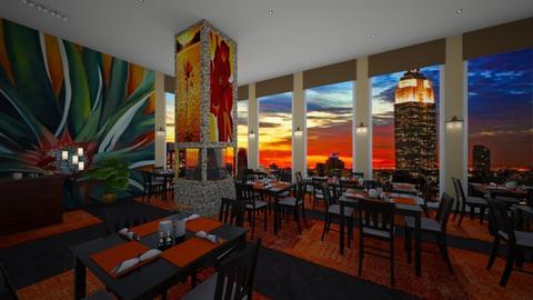 restaurant - by Christine Keller
