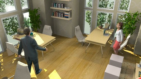 Cozy office - Minimal - Office  - by mythreesons