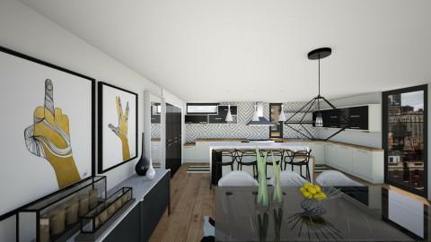 BW Kitchen V4 - Modern - Kitchen - by mrusso0