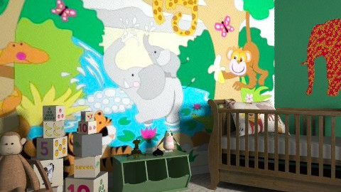 In the jungle - Classic - Kids room  - by lottie21