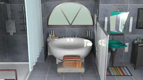 baño oscuro - Glamour - Bathroom  - by ATELOIV87
